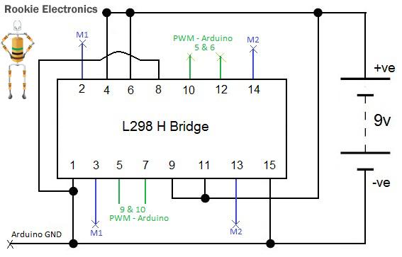 l298 h bridge circuit diagram detailed wiring diagram L298 Motor Driver basic programmed robot rookie electronics electronics \u0026 robotics h bridge motor driver l298 h bridge circuit diagram