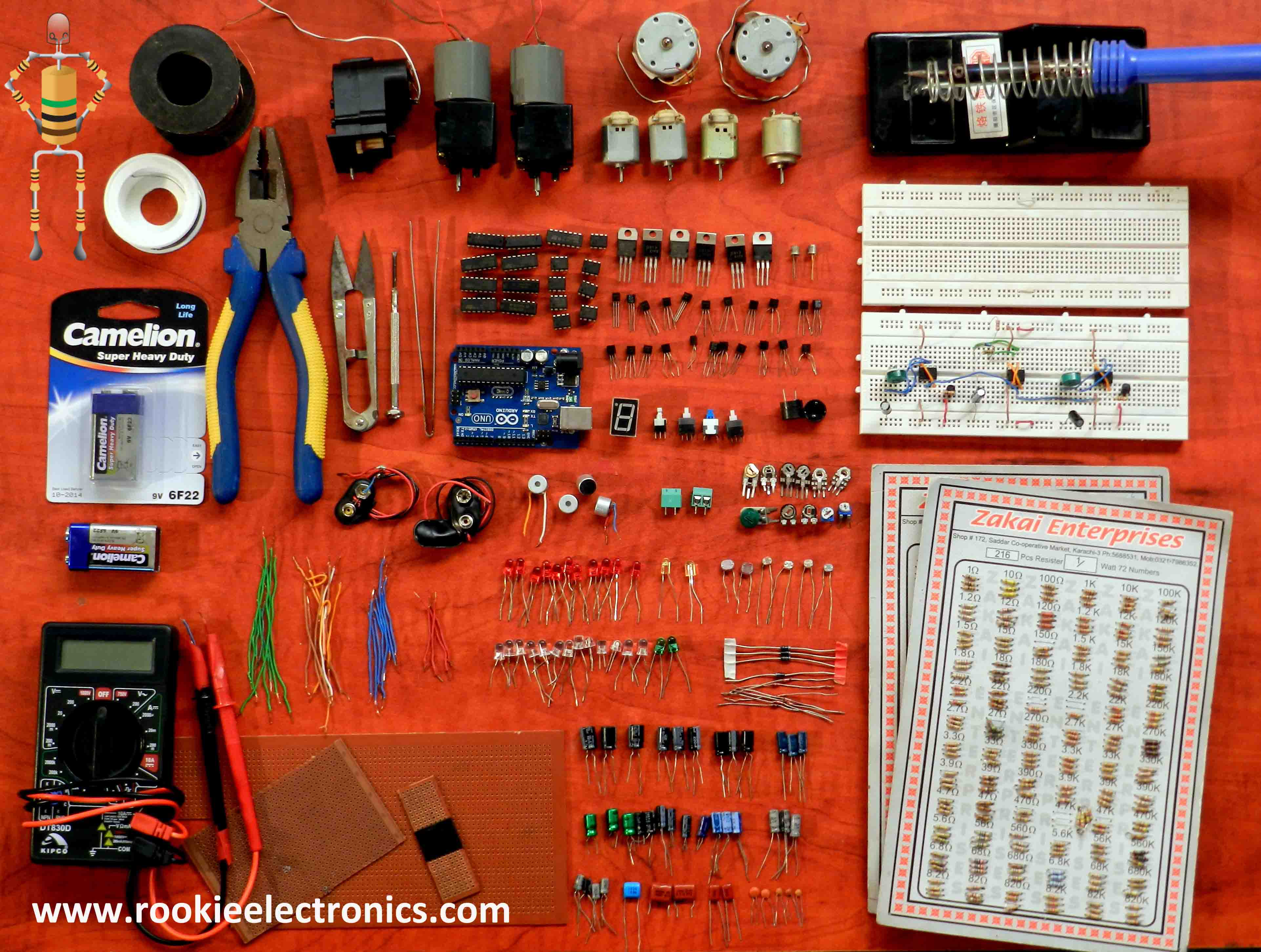 Starter Kit For Electronics Rookie Switch Circuit Electronic Project Using 555 Timer Bc547 Transistors