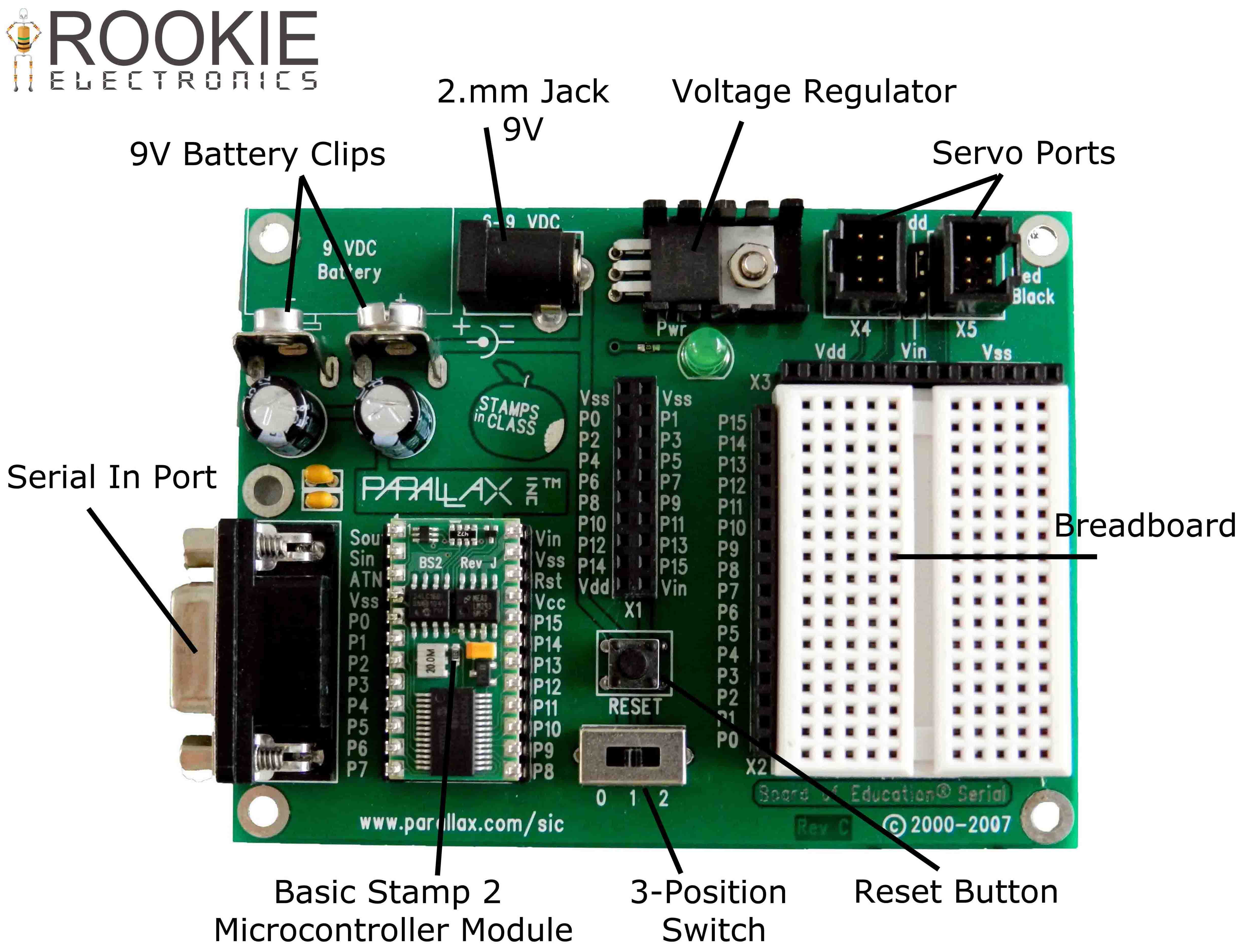 Servo Tester Using 555 Timer Rookie Electronics Switch Circuit Electronic Project Bc547 Transistors Board Of Education