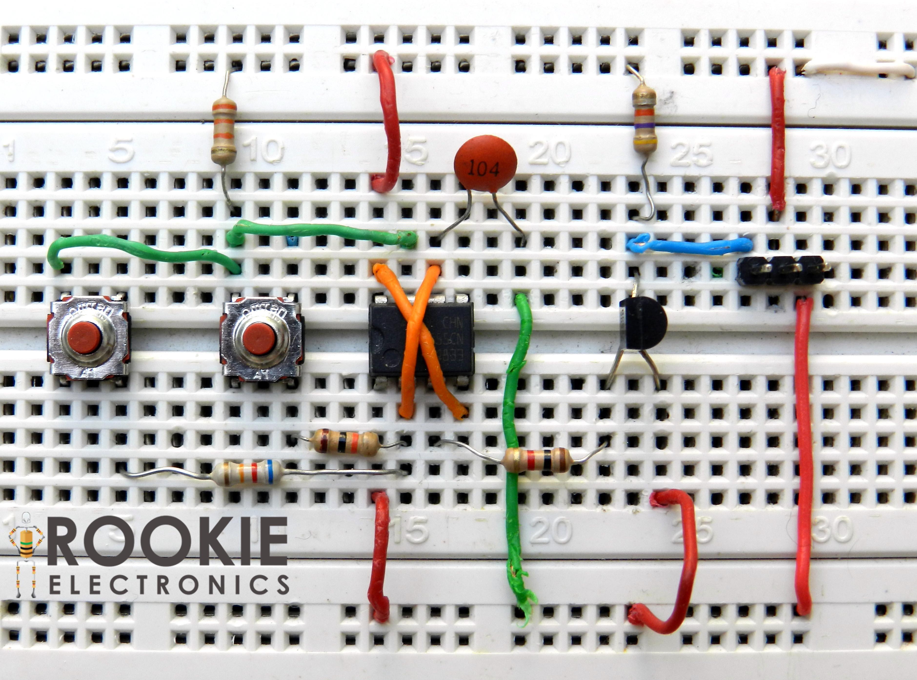 Servo Speed Tester Rookie Electronics Robotics Flasher Circuit Using Ne555 Timer Basic Electronic Project Projects