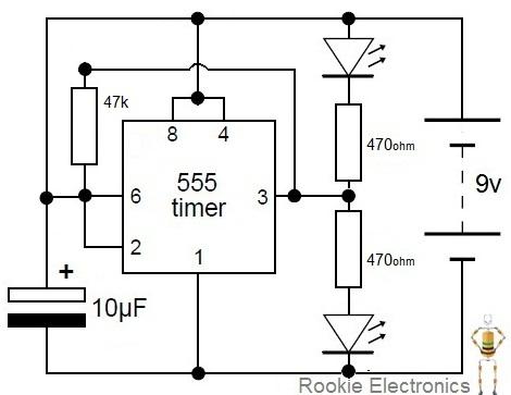 flashing rail road lights rookie electronics electronics rh development rookieelectronics com Light Bulb Circuit Diagram Simple Light Bulb Circuit Diagram