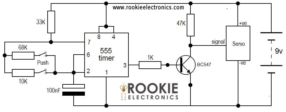 Servo Tester using 555 Timer   Rookie Electronics